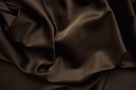 brown clothes: texture of cloth Chocolate brown satin  silk close up Stock Photo