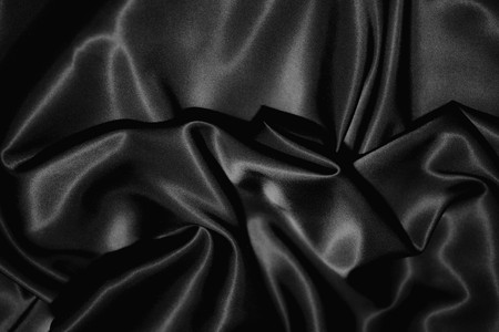 black silk: texture of a black silk