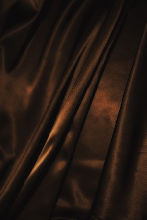 texture of cloth Chocolate brown satin  silk close up Stock Photo - 7474837