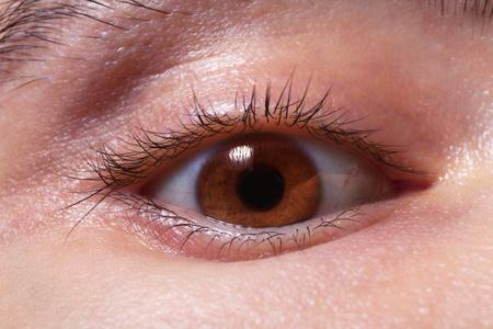 brown mans eye closeup photo