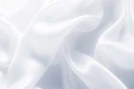 studio backdrop: delicate waves of satin silk close up Stock Photo