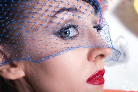 Portrait of beautiful young women in veils closeup Stock Photo - 8810571