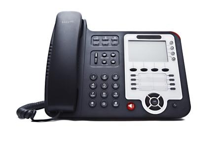 black phone closeup isolated on white background Imagens - 9771060