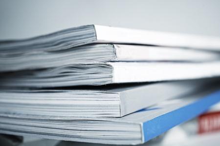large pile of old magazine closeup Stock Photo - 9894756
