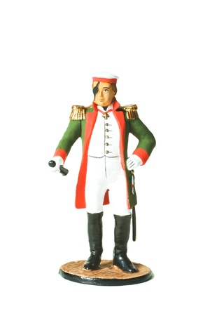 commander: Tin Soldier. Russian commander Kutuzov during the war of 1812 in military uniform