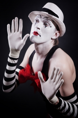 theater actor in makeup funny mime photo