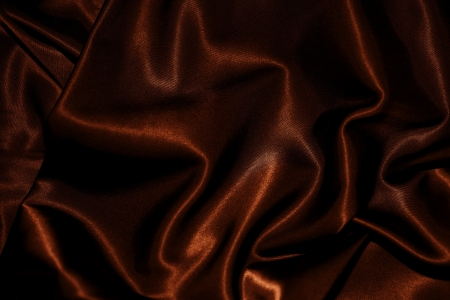 background brown: texture of cloth Chocolate brown satin silk close up