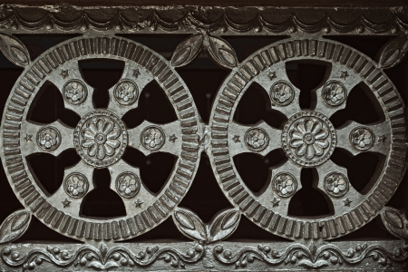 Architectural metal flower ornament close-up Stock Photo - 18069162