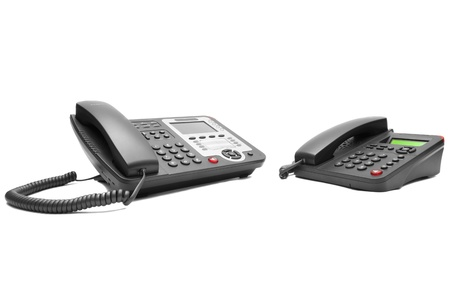 Two office phone isolated on white background photo