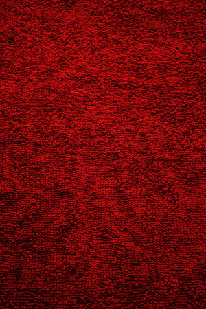 toweling: Texture of red terry towel close up Stock Photo
