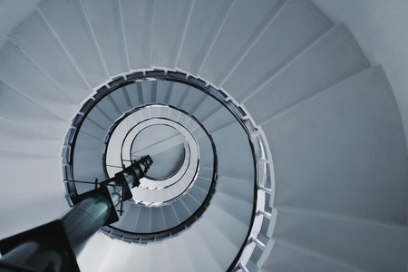 Old Spiral staircase close up. Architectural detail Imagens - 37406070