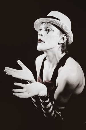 actor: theater actor in makeup funny mime Stock Photo