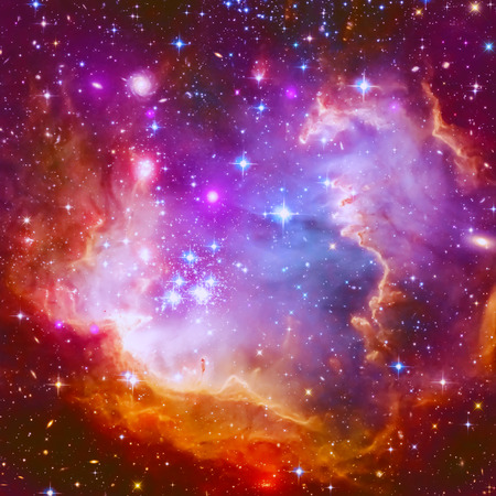 Abstract illustration with a beautiful star space nebula Stok Fotoğraf - 40348022