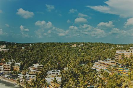 kovalam: view from the top at Kovalam. Kerala, India