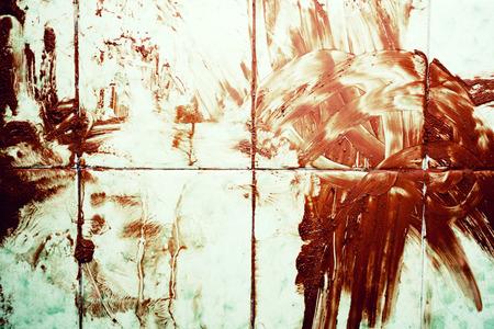 Texture of Bloodied dirty floor close up Standard-Bild