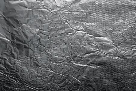 aluminium texture: The texture of shiny aluminum foil close up Stock Photo