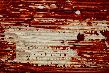bloodstain: The texture of old cardboard with bloodstain closeup