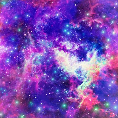 lucero: Fondo del espacio abstracto con brillante nebulosa estrella Foto de archivo
