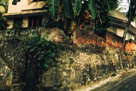 dirty house: Old dirty house in the rain forest
