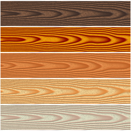 ebony tree: Set of texture illustration of wooden floorings