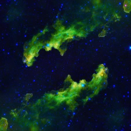 planetarium: Space landscape with beautiful nebula and bright stars