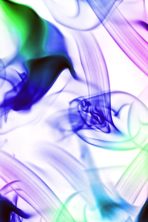colored smoke: Abstract background with moving colored smoke on white