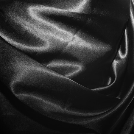 black silk: Texture of black silk fabric closeup