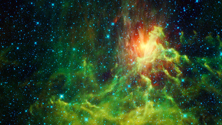 Abstract space background with beautiful bright galactic nebula Stock Photo