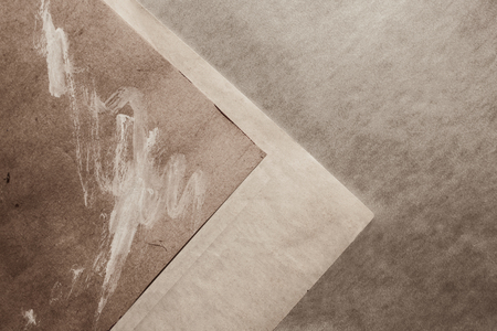 Background with old gray paper closeup