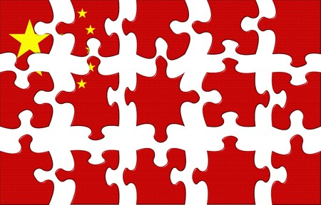 Flag of China puzzle Editorial