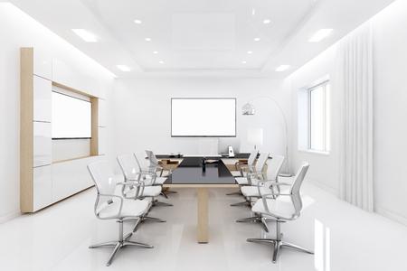 director de escuela: Representación 3D de Sede está diseñado en un estilo sencillo. Habitación amplia y luminosa tiene partes adicionales.
