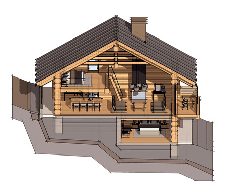 chalet: Section of a country house