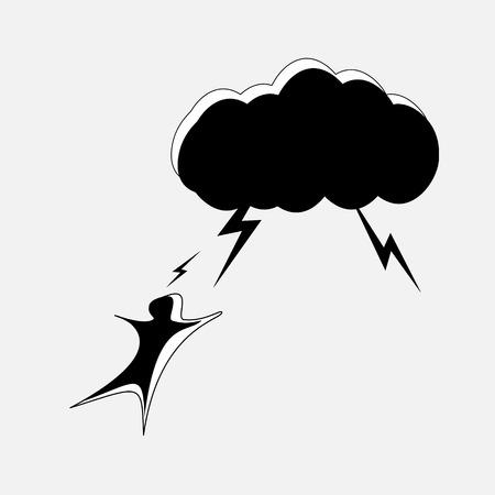 struck: A man struck by lightning