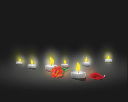 victim war: Candles in memory of the victims Illustration