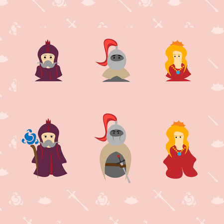 mage: 3 characters, mage, knight, princess, Fantasy set