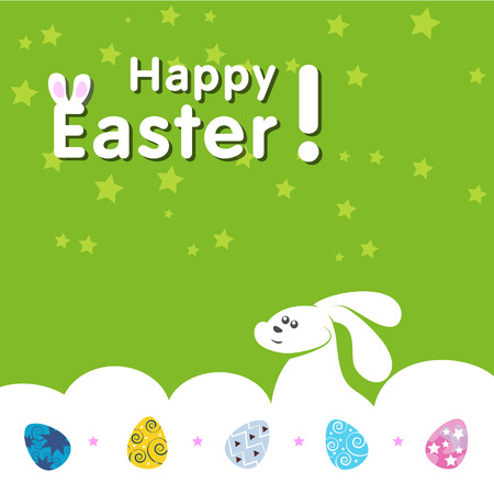 paskha: Happy Easter with bunny