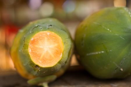 beheaded: Papaya beheaded Stock Photo