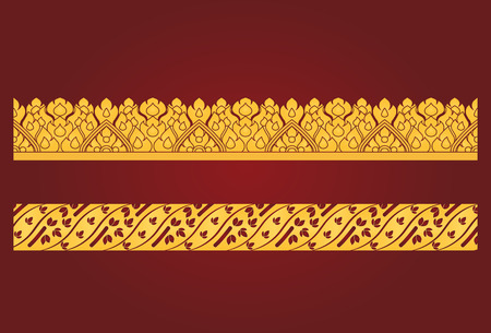 boarder: Thai art boarder pattern Illustration