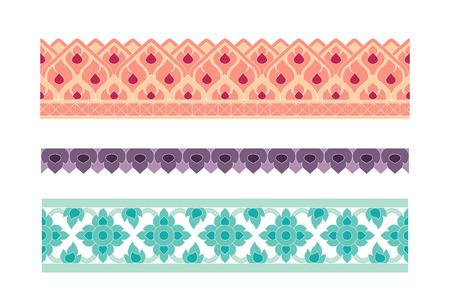 boarder: Thai art seamless boarder pattern