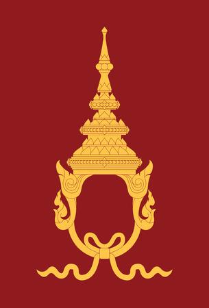 king thailand: Illustrator traditional thai style headdress