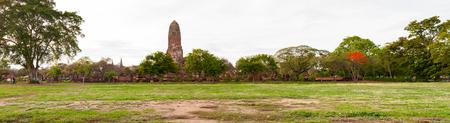 phra nakhon si ayutthaya: panorama view of Ayutthaya Historical Park, Phra Nakhon Si Ayutthaya, Ayutthaya , Thailand