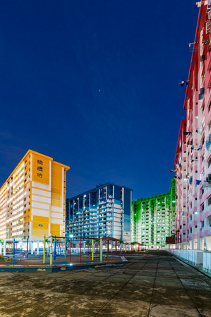 demolish: SINGAPORE - JUNE 23, 2016 : The Rochor center building is popular landmark in Singapore have to be a Demolished soon