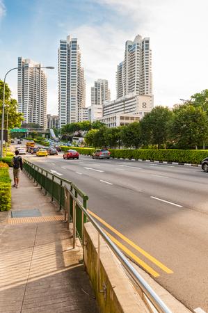 june 25: SINGAPORE - JUNE 25, 2016 : view of the elegant condominiums on Farrer Road in Singapore.