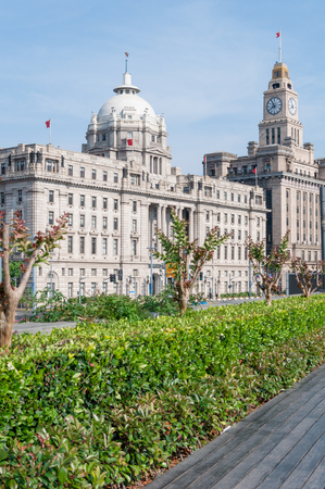 dozens: Shanghai, China - May 21, 2017 : The cityscape of the bund in shanghai with excellent historical buildings. The Shanghai Bund has dozens of historical buildings Editorial