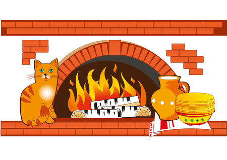 coal: Homeliness Vector. Rustic Stove. Vector Belarus. Russian Stove Vector. Cat Vector. Cat And Pancakes Vector. The Interior Of The House A Vector. Rustic Stove Hoods. Rustic Stove. Stove Kitchen.