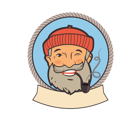 skipper: Old Sailor With Pipe. Portrait Character. Fishing Vector Labels. Old Sailor Tattoos. Old Sailor Picture. Old Sailor Hat. Old Sailor Jokes. Sailor Pipe Smoking. Old Sailor With Pipe Painting.