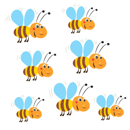 Funny Flying Bees. Isolated Vector On A White Background. Bee. Bee Toy. Bee Costume. Honey Bees. Flying Honey Bees. Bees Flying Around. Bees Flying Aerodynamics. Bees Not Flying. Bee God.