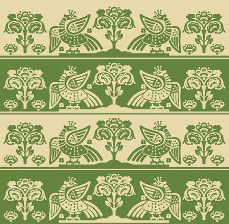 mythological: Fire Bird Phoenix, Seamless Pattern, Vector Illustration. Firebird Logo. Fire Bird Stickers. Fire bird Pattern. Phoenix Fire bird Mythological. Fire bird Phoenix Art. Illustration