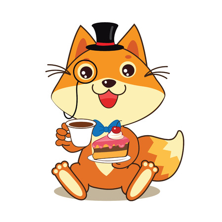 memes: Funny Cat In Bowler Hat And Monocle And Cake In His Hands. Vector Cartoon Animals Illustration. Funny Cat Memes. Funny Cat Jokes. Funny Cat Gourmet. Funny Cat Poster. Funny Cat Stuff.