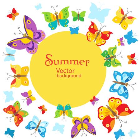 butterfly background: Summer Background. Vector Butterflies Background Design. Butterfly Vector Design Illustration. Cartoon Style Butterfly Background. Butterfly Background Design. Butterfly Template. Butterfly Garden.